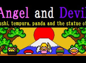 Angel and Devil,ninja,sushi,tempura,panda and the statue of liverty İndir Yükle